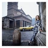 Vogue - April 1969 - Veruschka in Rome Premium Photographic Print by Franco Rubartelli