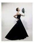 Vogue - November 1949 - Model wearing Christian Dior 1949 Photographic Print by Erwin Blumenfeld