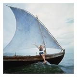 Vogue - January 1968 - Boating Veruschka Premium Photographic Print by Franco Rubartelli