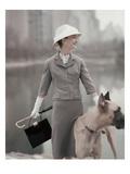 Vogue - February 1956 Photographic Print by Karen Radkai