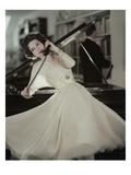 Vogue - June 1957 Photographic Print by Karen Radkai