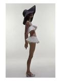 Vogue - June 1969 - Model Wearing Givenchy Swimwear Premium fotoprint van Bert Stern