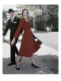 Vogue - October 1957 Photographic Print by Karen Radkai