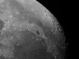 Close-Up View of the Moon Showing Impact Crater Plato Reproduction photographique par  Stocktrek Images