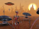 Artist's Concept of Life on Mars Long Ago Fotografie-Druck von  Stocktrek Images