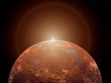 Artist's Concept of a Distant Red Planet Orbiting its Sun Fotografie-Druck von  Stocktrek Images