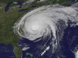 Satellite View of Hurricane Irene Fotografie-Druck von  Stocktrek Images