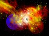 A Dying Star Turns Nova as it Blows Itself Apart Fotografisk trykk av Stocktrek Images,
