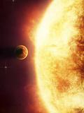 A Growing Sun About to Burn a Nearby Planet Fotografisk trykk av Stocktrek Images,