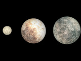 Dwarf Planets Ceres, Pluto, and Eris Photographic Print by  Stocktrek Images