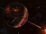 A Scene Portraying the Early Stages of a Solar System Forming Photographic Print by  Stocktrek Images