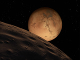 Mars Seen from its Outer Moon, Deimos Fotografisk trykk av Stocktrek Images,