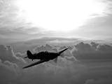 A Hawker Hurricane Aircraft in Flight Photographic Print by  Stocktrek Images