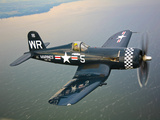 A Vought F4U-5 Corsair in Flight Fotografisk trykk av Stocktrek Images,