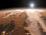 Artist's Concept of the Valles Marineris Canyons on Mars Fotografie-Druck von  Stocktrek Images