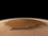 Artist's Concept of the Northwest Side of the Olympus Mons Volcano on Mars Fotografie-Druck von  Stocktrek Images