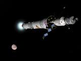 Phobos Mission Rocket Brakes for Mars Orbit Fotografie-Druck von  Stocktrek Images