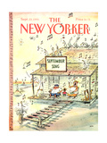 The New Yorker Cover - September 23, 1991 Reproduction giclée Premium par George Booth