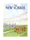 The New Yorker Cover - November 16, 1987 Premium Giclee Print by James Stevenson