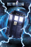 Doctor Who-Tardis- Metallic Poster Affiche