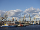 St. Petersburg Commercial Harbor Photographic Print by  Keenpress