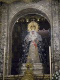 The Virgin of Triana, Nuestra Senora De La Esperanza Macarena Fotografisk trykk av Krista Rossow