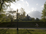 People Exercising in Piedmont Park in Midtown, Atlanta Fotografisk trykk av Krista Rossow