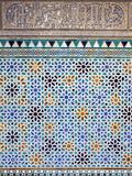 Detail of Tiles and Plaster Carving at Alcazar Royal Palaces, Seville Fotografisk trykk av Krista Rossow