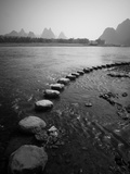 A Stone Pathway Crosses the River in Guilin  China