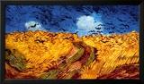 Hveteåker med kråker, ca. 1890 Plakater av Vincent van Gogh