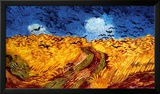 Korenveld met kraaien, ca. 1890 Schilderij van Vincent van Gogh