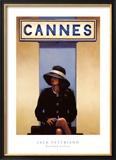 Vertrek uit Eden, vrouw zit klaar om uit Cannes af te reizen Kunst van Vettriano, Jack