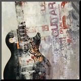 Rock n Roll II Kunst op hout van David Fischer
