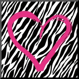 Zebra Love Mounted Print by Louise Carey