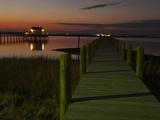 Docks at Chincoteague Island Fotografisk tryk af Karen Kasmauski