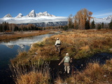 Fly Fishing in Grand Teton National Park Photographic Print by Aaron Huey