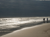 A Couple on the Atlantic Shoreline and Sunlight Reflections Photographic Print by Karen Kasmauski
