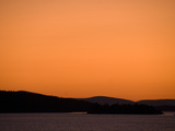 A Dramatic Orange Sunset over Penobscot Bay Photographic Print by Anne Keiser