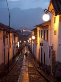 A Street in the San Blas Neighborhood in Cuzco Fotografisk tryk af Michael S. Lewis