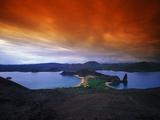 Dramatic Cloud Cover over Bartolome Island, Galapagos Archipelago Photographic Print by Mauricio Handler