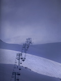 The Ski Lift at Faraya Ski Resort Near Beirut Photographic Print by Aaron Huey