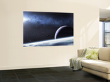 A Mysterious Light Illuminates a Small Nebula and Nearby Planets Wall Mural by  Stocktrek Images