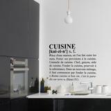 La cuisine : définition du dictionnaire - taille moyenne - noir Autocollant mural