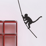 The Monkey I-Black Autocollant mural