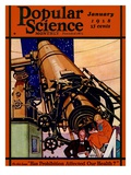 Front Cover of Popular Science Magazine: January 1, 1928 Poster