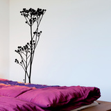 Wild Plant - Medium-Black Autocollant mural