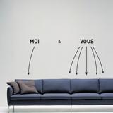 Me and You-Medium-Black Autocollant mural