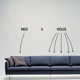 Me and You-Medium-Black Wall Decal