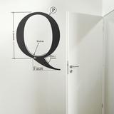 Q by HMC-Black Wall Decal