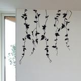 Vine Branches-Medium-Black Autocollant mural